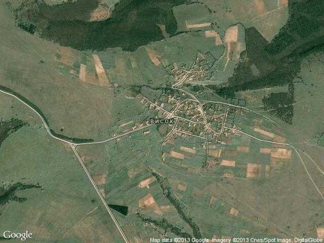 Сателитна карта на Висок