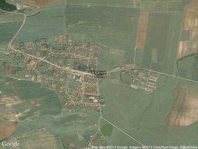 Сателитна карта на Врани кон
