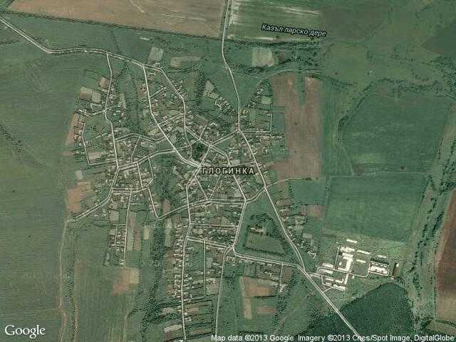 Сателитна карта на Глогинка