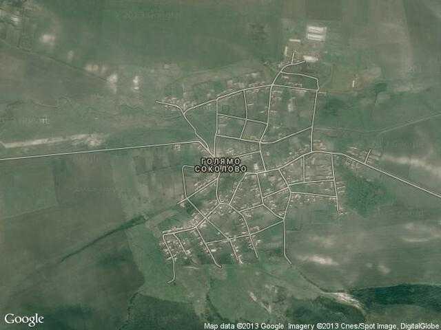 Сателитна карта на Голямо Соколово