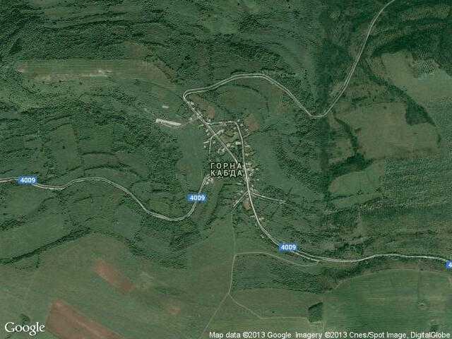 Сателитна карта на Горна Кабда