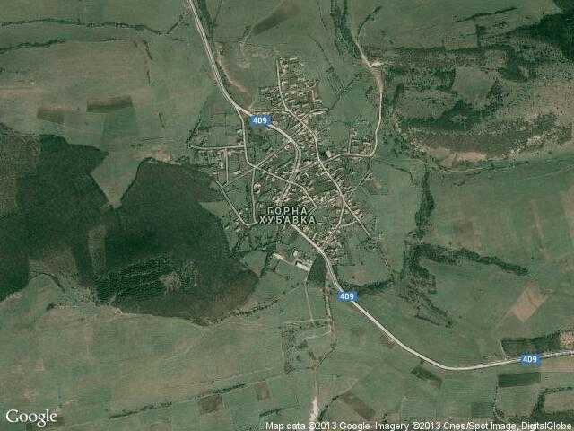 Сателитна карта на Горна Хубавка