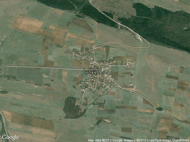 Сателитна карта на Горно Новково