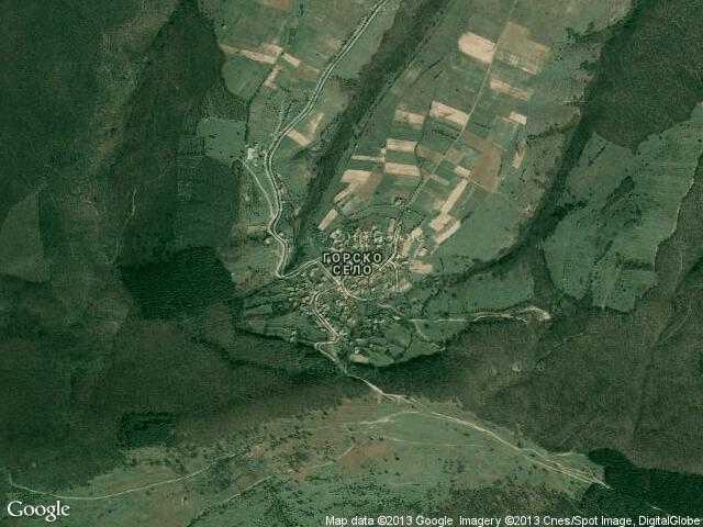 Сателитна карта на Горско село