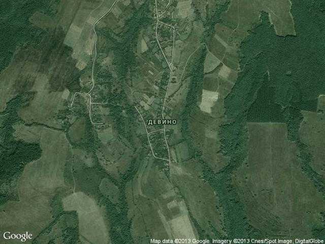 Сателитна карта на Девино