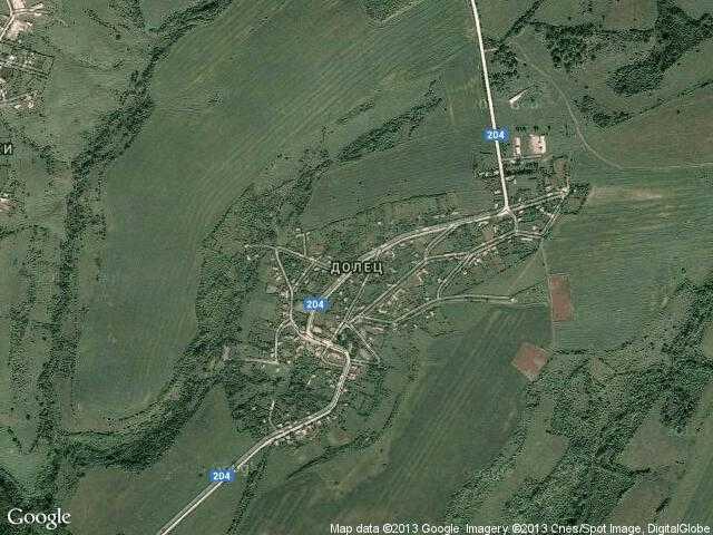 Сателитна карта на Долец