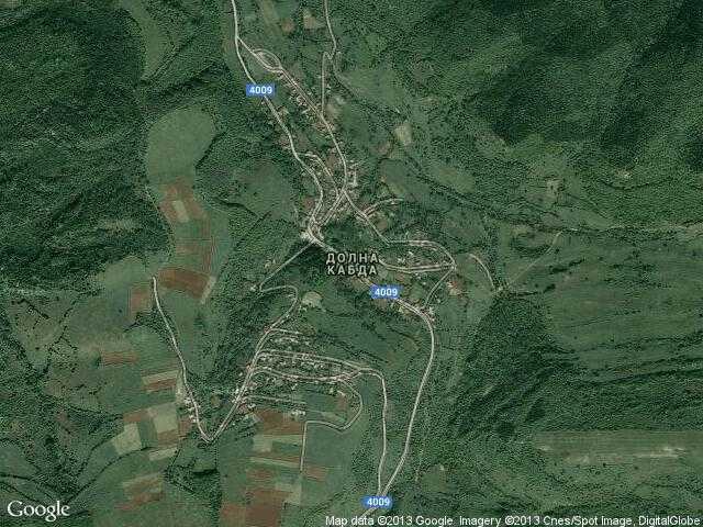 Сателитна карта на Долна Кабда