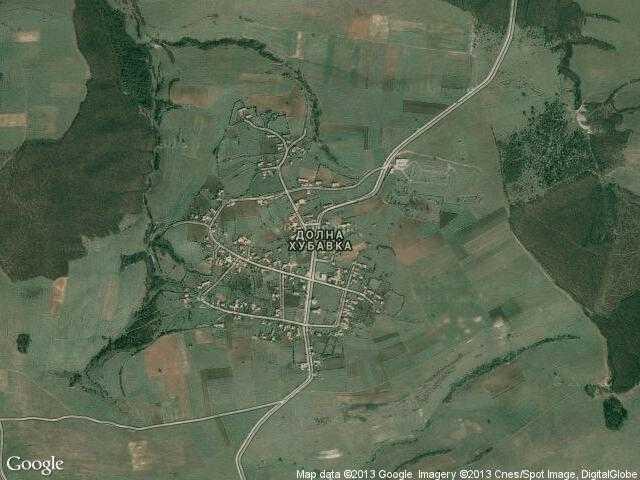 Сателитна карта на Долна Хубавка