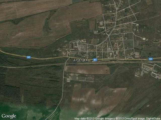 Сателитна карта на Дралфа