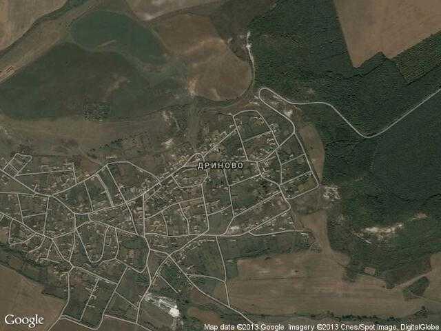 Сателитна карта на Дриново