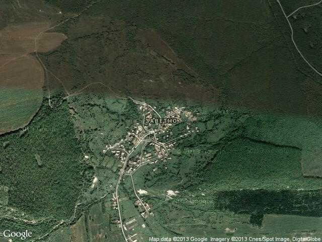 Сателитна карта на Заветно