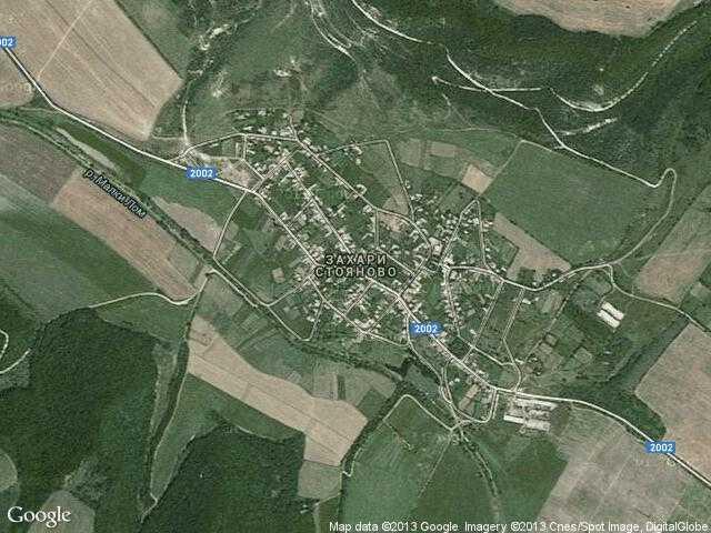 Сателитна карта на Захари Стояново