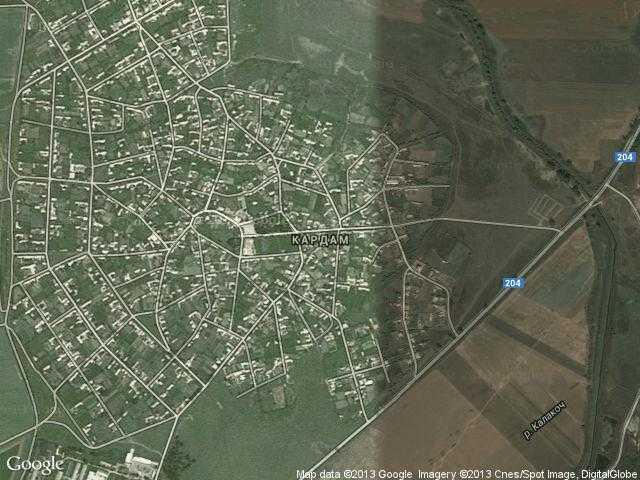 Сателитна карта на Кардам
