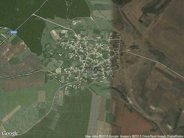 Сателитна карта на Козица