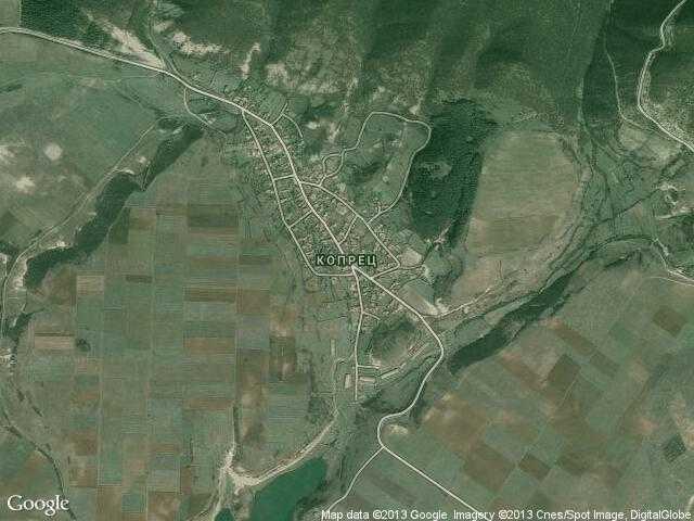 Сателитна карта на Копрец