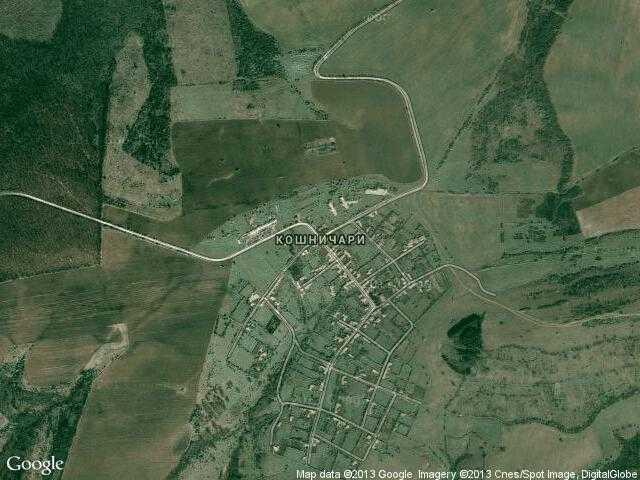 Сателитна карта на Кошничари