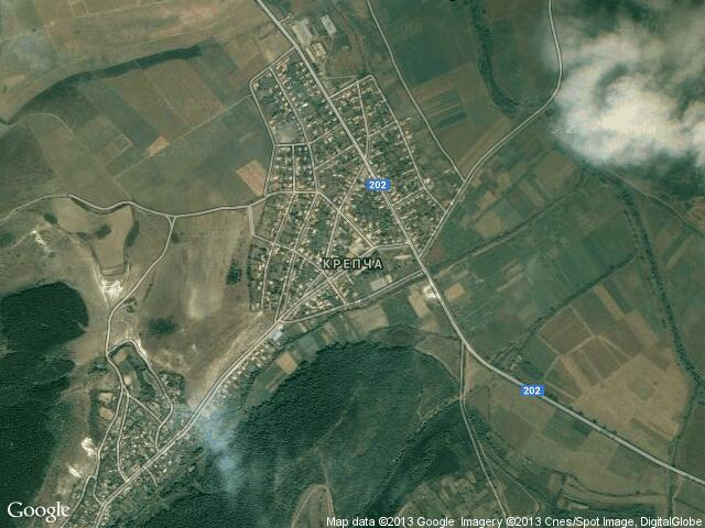 Сателитна карта на Крепча