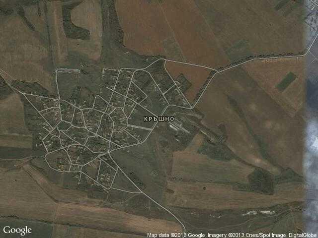 Сателитна карта на Кръшно
