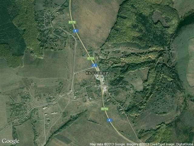 Сателитна карта на Кьосевци
