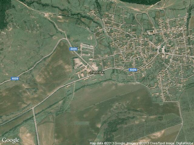 Сателитна карта на Лиляк
