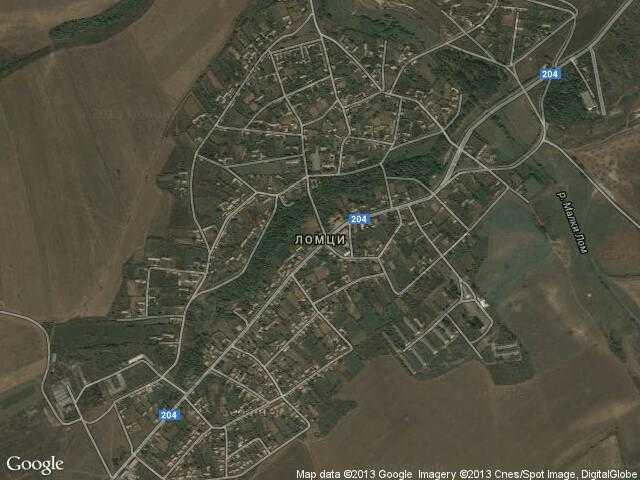 Сателитна карта на Ломци