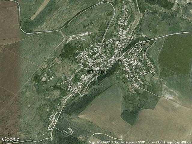 Сателитна карта на Люблен
