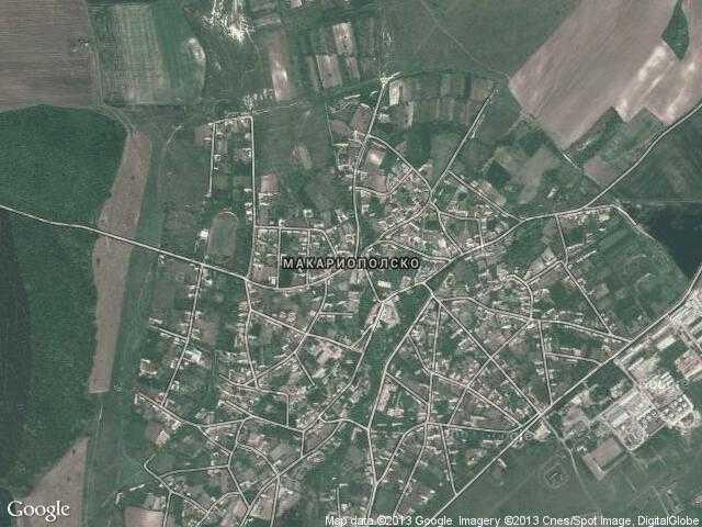 Сателитна карта на Макариополско