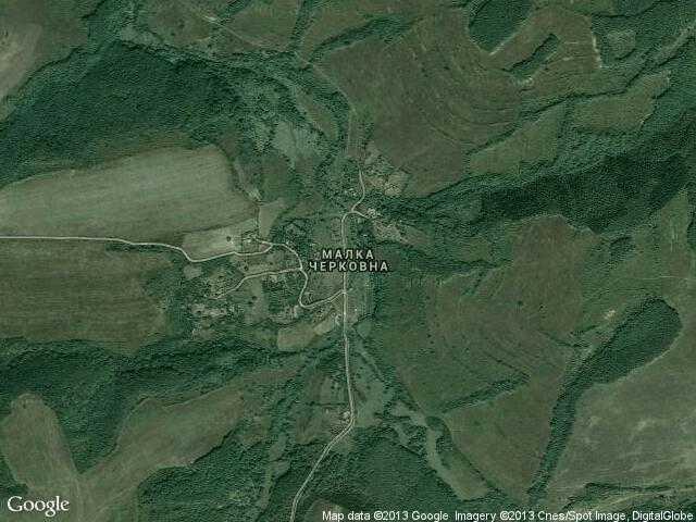 Сателитна карта на Малка Черковна