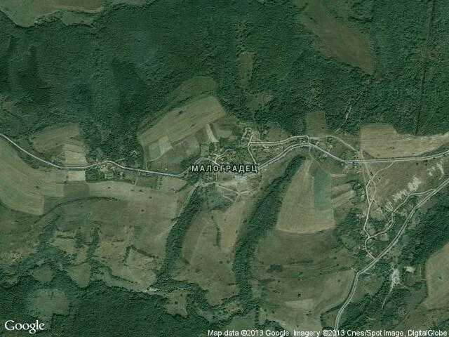 Сателитна карта на Малоградец