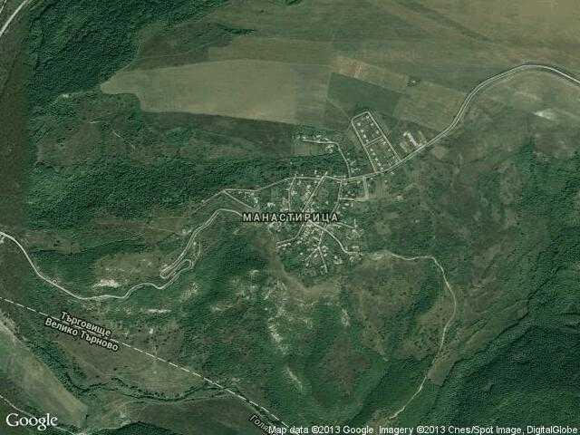 Сателитна карта на Манастирица
