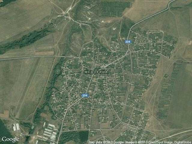 Сателитна карта на Медовина