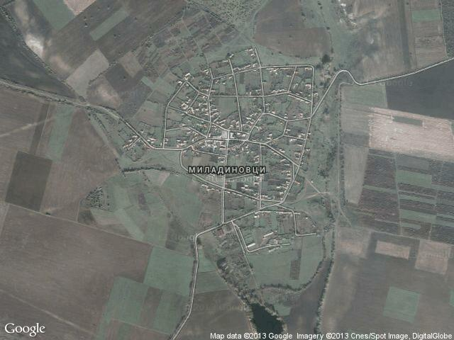 Сателитна карта на Миладиновци