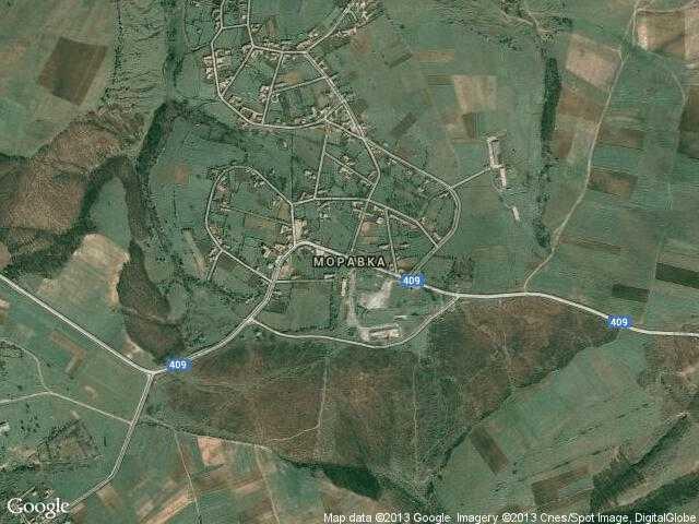 Сателитна карта на Моравка