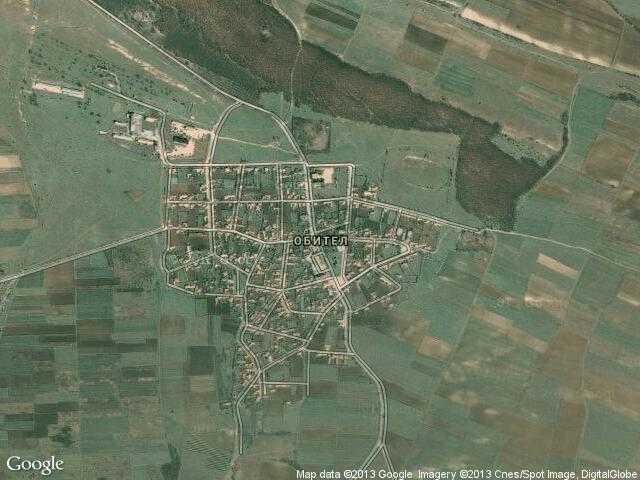 Сателитна карта на Обител