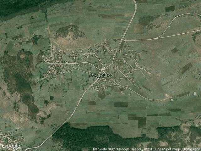 Сателитна карта на Пайдушко