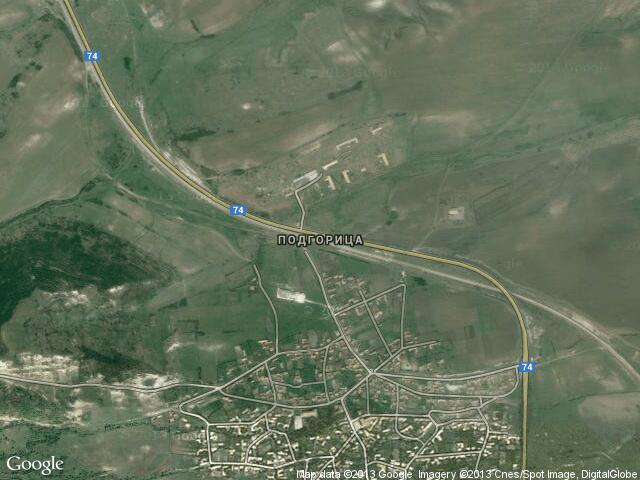 Сателитна карта на Подгорица