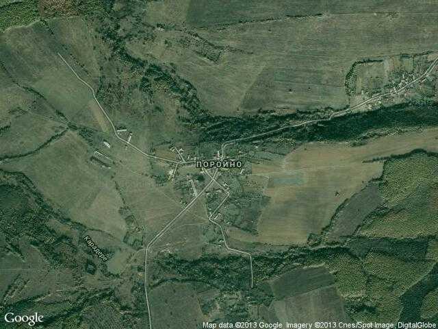 Сателитна карта на Поройно