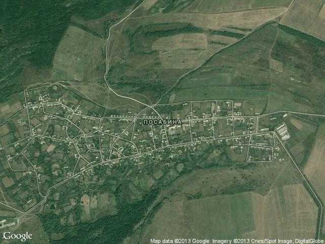 Сателитна карта на Посабина