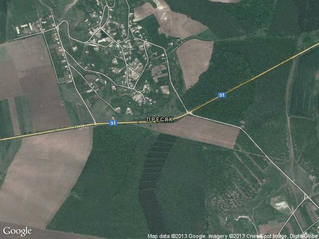 Сателитна карта на Пресяк