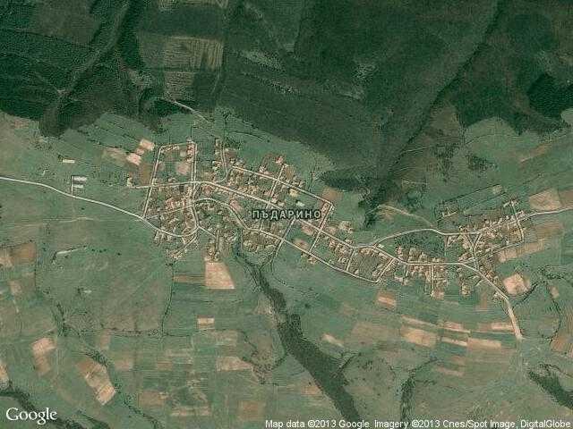 Сателитна карта на Пъдарино
