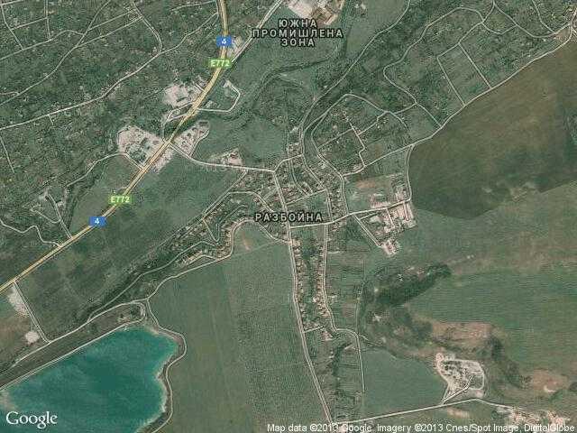 Сателитна карта на Разбойна
