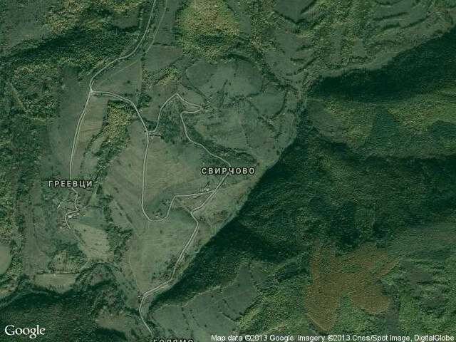 Сателитна карта на Свирчово