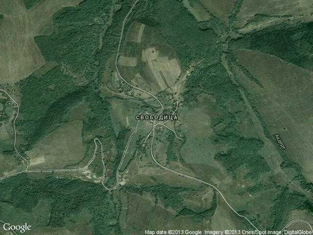 Сателитна карта на Свободица