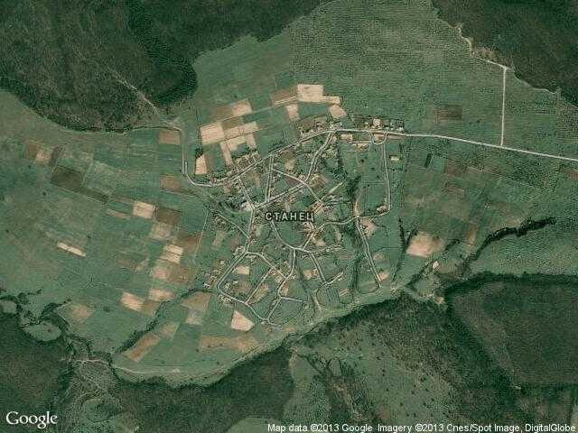 Сателитна карта на Станец