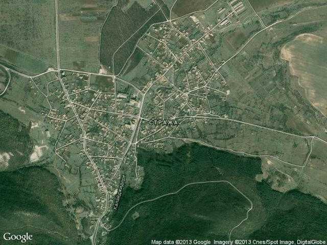 Сателитна карта на Стража