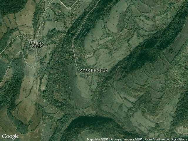 Сателитна карта на Стройновци