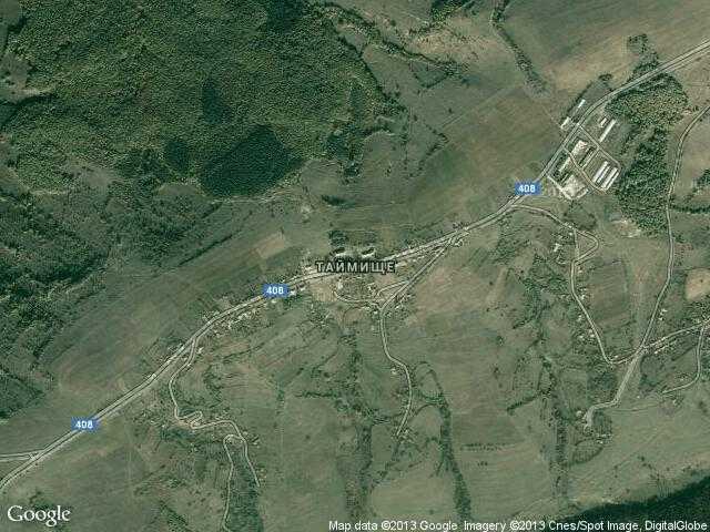 Сателитна карта на Таймище