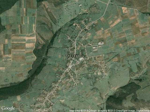 Сателитна карта на Трескавец