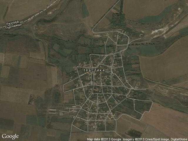 Сателитна карта на Тръстика