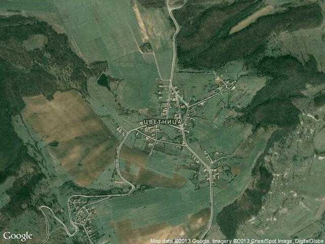 Сателитна карта на Цветница